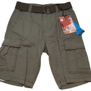 Plugg Guy's Stormer Cargo Shorts Cactus New
